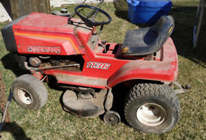 "36"" riding lawn mower for big and small yards."