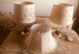 Brass Lamps with Laura Ashley Shades
