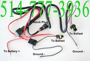 RELAY KIT RELAIS WIRE HARNESS CABLES HID XENON LIGHTS CAR AUTO