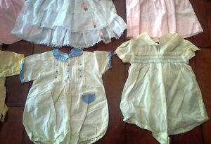 Nine Vintage Baby/Doll Dresses, Outfits, Most With Embroidery Kitchener / Waterloo Kitchener Area image 7