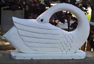 Handmade Wooden Swan