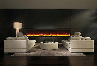 Amantii BI-88-Deep Panorama Series Electric Fireplace Built In w Heat Fire & Ice