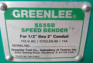 GreenLee 555SB Speed Bender