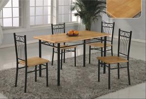 Black kitchen table similar to photo all black