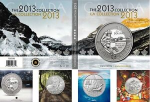 2013 Silver $20 for $20 Collection Hockey, Wolf, Iceberg & Santa