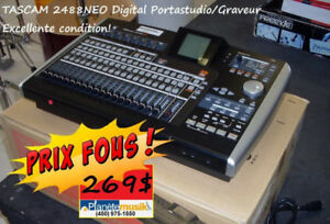 PRIX FOUS Mixers, Multi tracker graveur Tascam, Crybaby, effets