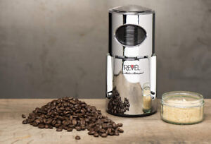 NEW - REVEL Chrome Wet and Dry Coffee / Spice Grinder