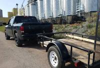 Man with truck & trailer 506-878-0444 (service bilingue)