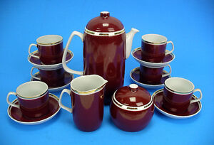 Art Deco Style Hollohaza Hungary Espresso Set