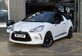 2014 14 CITROEN DS3 1.6 DSPORT CABRIO 3D 155 BHP 6SP SPORTS CONVERTIBLE, WHITE