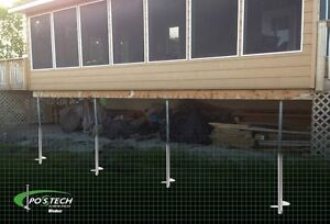Postech Screw Pile Footings For Decks, Additions, Sunrooms! Windsor Region Ontario image 2