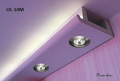12 Meter LED LichtStrahl Spots Profil für indirekte Beleuchtung XPS OL-10 Weiß