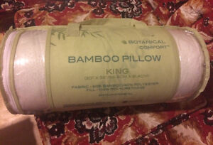 2 brand new bamboo pillows - king sized