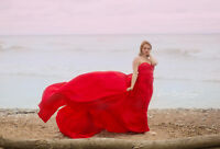 Glamorous Red Dress Photo Session
