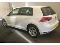 2015 WHITE VW GOLF 1.6 TDI 105 MATCH DIESEL MAN 5DR HATCH CAR FINANCE FR £37 PW