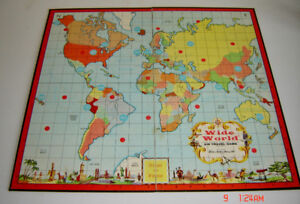 Parker Brothers 1957 Wide World Travel Board Game