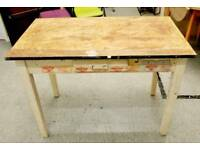 SALE NOW ON!! - Kitchen Vintage Table With Drawer - Can Deliver For £19