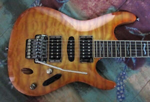 Ibanez S470DXQM guitar with new gig bag