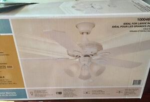 "52 "" Ceiling fan. White."