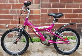 Raleigh girls bike age 4-6