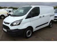 2017 WHITE FORD TRANSIT CUSTOM 2.0 TDCI 105 290 LWB VAN CAR FINANCE FR £54 PW