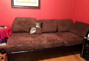 Sofa set brown still like brand new sectional