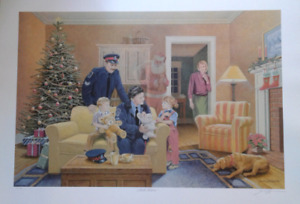 James Lumbers  - Santa's  helpers -  limited edition print