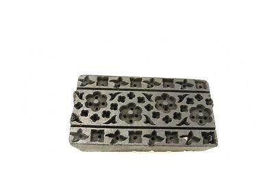 Antique Bunta Stamped Wood Printing Fabric Textile Batik Rajasthan India D6 Q