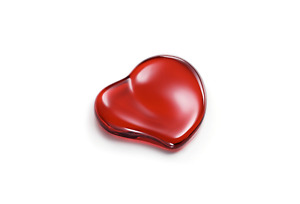 Elsa Peretti red crystal heart paperweight