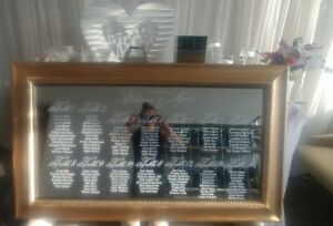 WEDDING CUSTOM MIRRORS AND FRAMES/ DANCE FLOOR MONOGRAMS/SIGNS