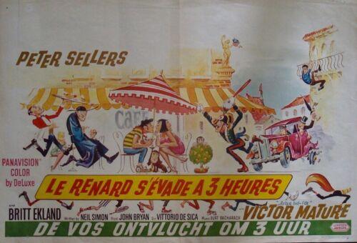 AFTER THE FOX Belgian movie poster PETER SELLERS BRITT EKLAND FRANK FRAZETTA 66