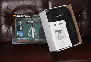 Celestron Travel Scope 50 w/backpack new in box 54X-135X
