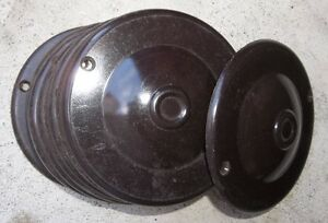 10 - ROUND OUTLET COVER PLATES ( BROWN )