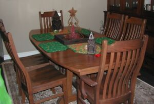 Mission dining room table set