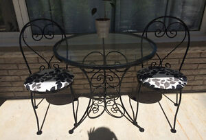 Bistro chairs with table set