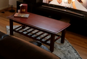 Solid dark wood coffee table Werribee Wyndham Area Preview