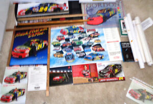 Signed Dupont Jeff Gordon Nascar Posters Print Drawings Sam Bass