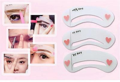 Grooming Shaping Assistant Template Eyebrow Drawing Card Brow Make-Up Stencil YL
