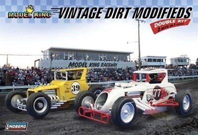 Lindberg [LND] 1:24 Vintage Dirt Modifieds Double Model Kit LND603031