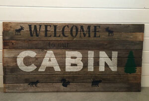 Hand made cabin sign