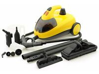 BRAND NEW BOXED Little Yello Steam Cleaner with 15 Piece Accessory Kit