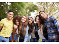 To meet with girls and pracise english