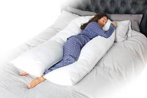 New-12-Ft-Foot-Maternity-Pregnancy-COMFORT-U-V-Pillow-and-or-Case