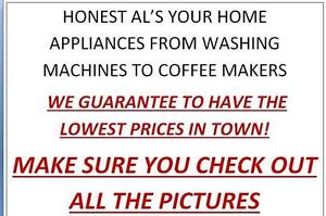 WASHING MACHINES, MICROWAVES, COFFEE MAKERS, MUCH MUCH MORE, MAKE SURE YOU CHECK OUT ALL THE PICTURES.