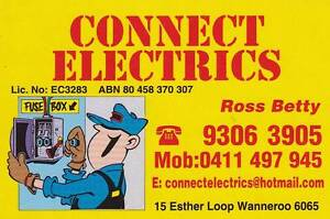 ELECTRICIAN - CONNECT ELECTRICS Wanneroo Wanneroo Area Preview