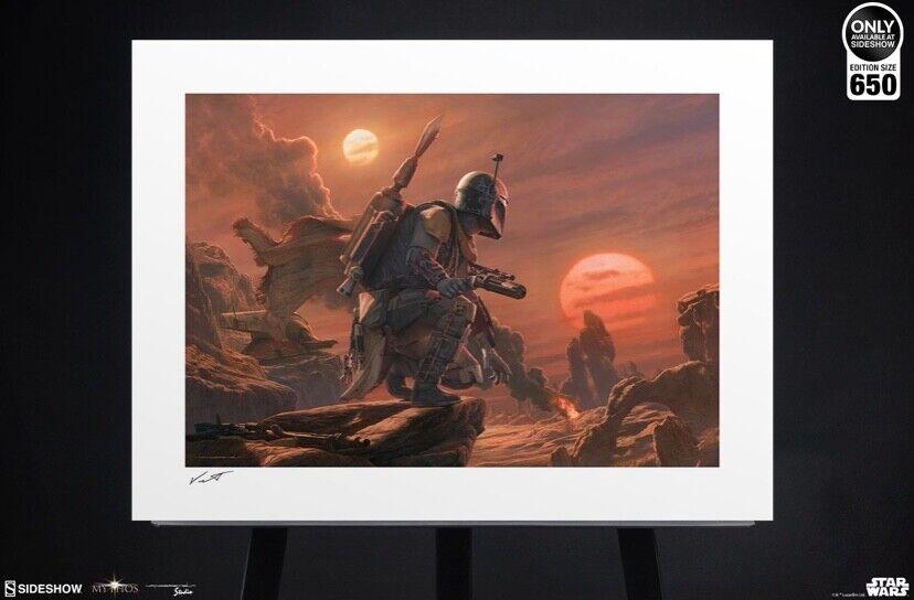 Star Wars Sideshow Boba Fett Dead Or Alive Art Print Jerry Vanderstelt - $250.00