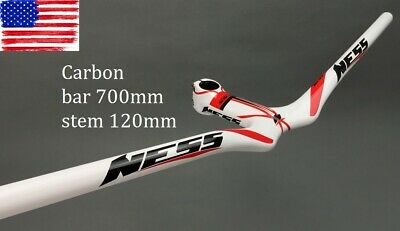 NESS Carbon Road MTB Bike Bicycle Riser Handlebar 700 Integrated Bar Stem 120mm