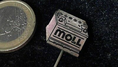 Moll Batterien Anstecknadel kein Pin Badge Logo Emblem Schriftzug