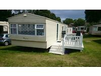 Static caravan for sale, sited Golden Sands, Dawlish Warren. Site fees and bills until end 2016.