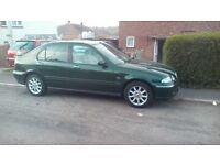 Rover 45. Year 2001. 68,000 miles. 12 months MOT. Good runner & a very clean for a car of this age.